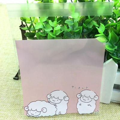 95入小綿羊月餅袋opp袋自黏袋透明袋食品級塑膠包裝袋飾品烘焙餅乾袋婚禮小物