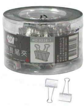 SDI (手牌)NO.0238-1 (13mm) 銀色長尾夾