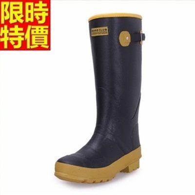雨靴-男雨具保暖舒適耐磨防滑男長筒雨鞋67a47[時尚巴黎]