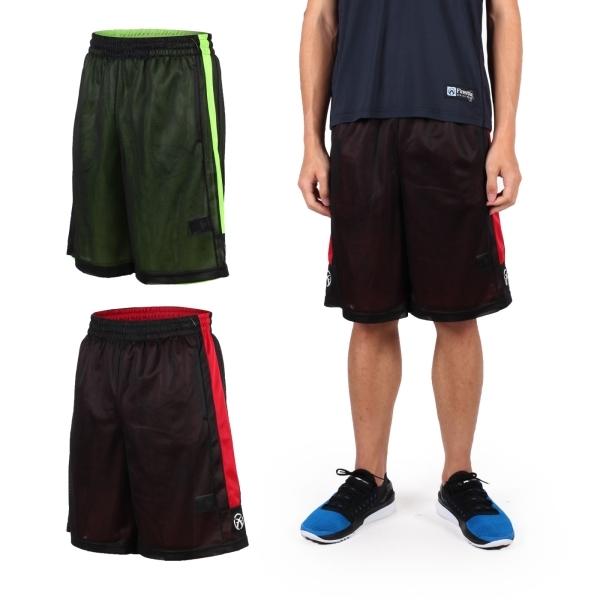 FIRESTAR 男雙面網布籃球短褲(慢跑 路跑 籃球 休閒  免運≡排汗專家≡