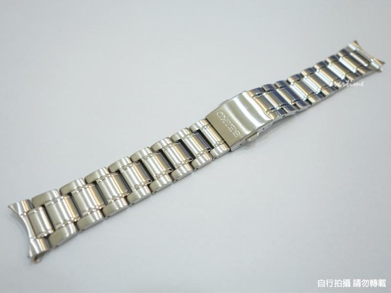 【時間道】原廠零件 SEIKO 日本精工 20mm 三折式不鏽鋼錶帶(付一組錶耳彈棒)免運費