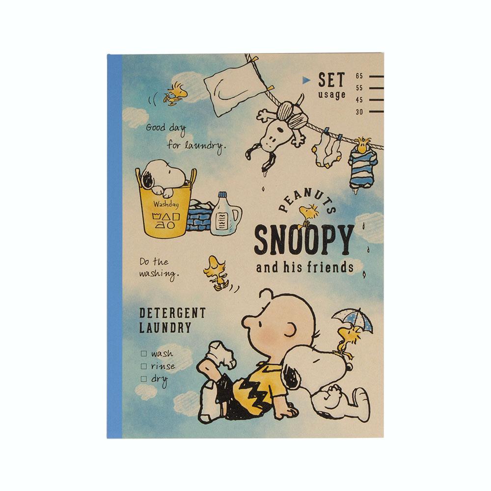 KAMIO SNOOPY B5平裝筆記本曬衣服funbox生活用品KM88447