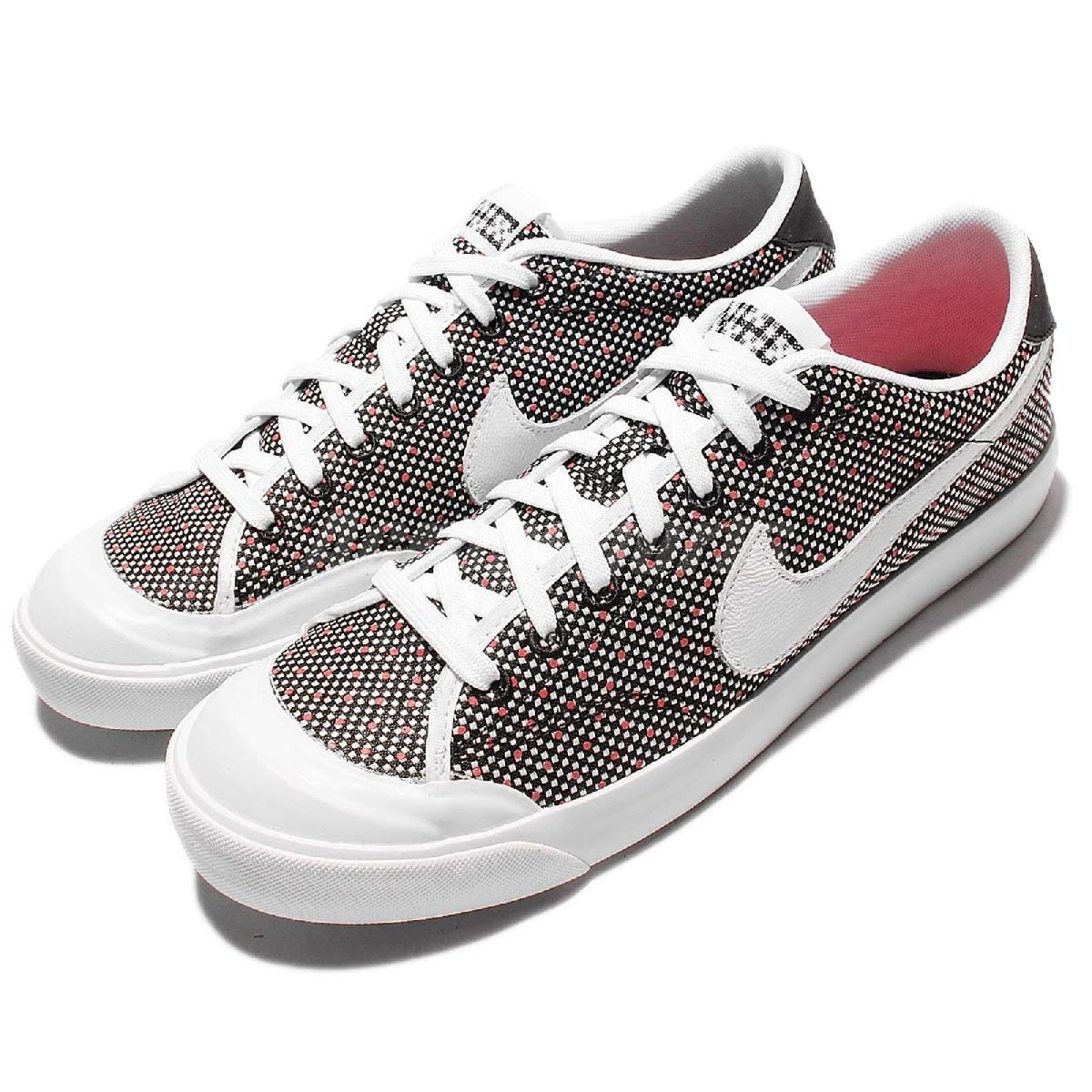 【六折特賣】 Nike 休閒鞋 All Court 2 Low KJCRD 白 黑 紅點點 平底鞋 男鞋 【PUMP306】 867117-001