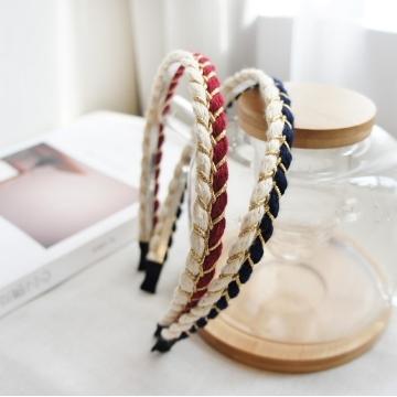 UNICO 韓版 時尚民族風金屬編織髮箍