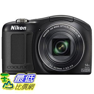 [103 美國直購 ShopUSA] 相機Nikon COOLPIX L62018.1MPCMOS Digital Camera with14x Zoom Lens and Full 1080p HD Video(Black)$8366