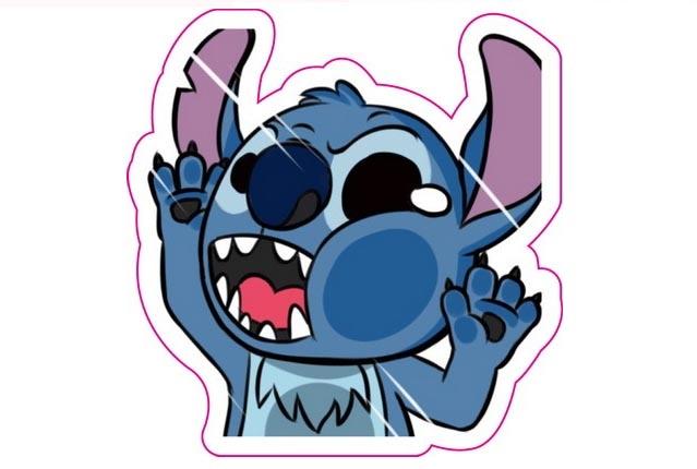 藍怪物毛怪史迪奇撞玻璃超KUSO搞笑貼爆炸貼裝飾貼大張規格安全帽貼車身貼