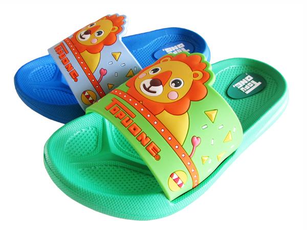 『雙惠鞋櫃』★TopuOne★ 立體感 可愛獅子款式 方便好穿 防水 童拖鞋★ (617268) 綠、藍
