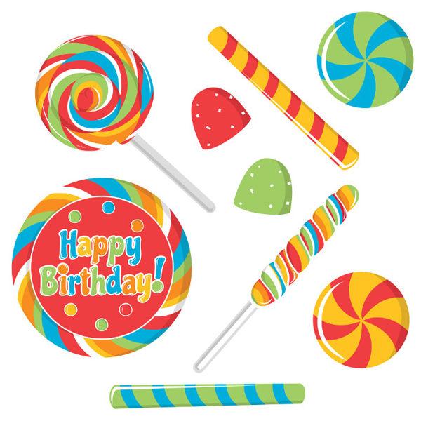 裝飾紙卡9入-糖果派對