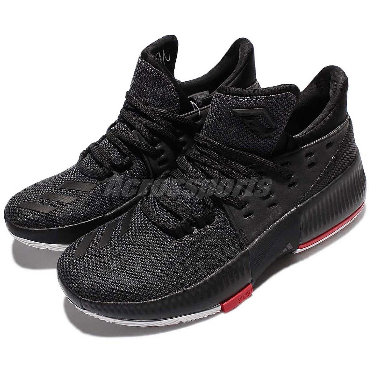 adidas籃球鞋D Lillard 3 J黑紅白大童鞋女鞋Dame 3運動鞋PUMP306 B49590