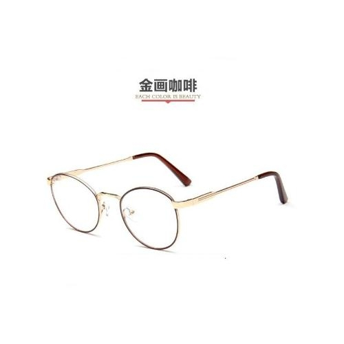Mini style鏡框經典復古校園眼鏡文藝細框金屬拉絲文青風小圓框日韓版時尚造型眼鏡