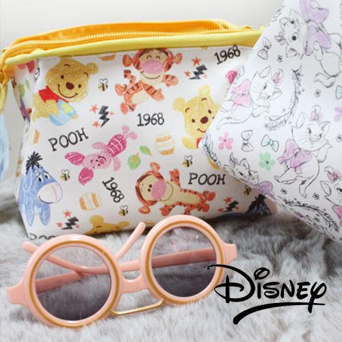 迪士尼化妝包棒棒包滿版可愛唐老鴨&米老鼠米妮瑪麗貓小熊維尼