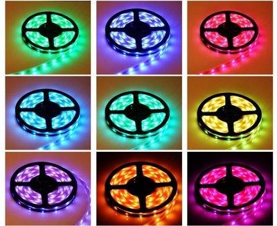 5050LED七彩軟燈條5米300燈 110電壓 贈搖控器 超防水 變色燈條 露營燈 汽車燈條 非2835 5730