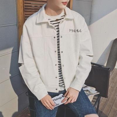 牛仔外套-翻領韓版簡約個性破洞男丹寧夾克2色73pc47巴黎精品