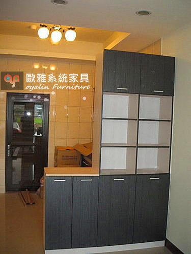 【歐雅系統家具】雙色美背餐邊隔間櫃 高低櫃  餐邊櫃