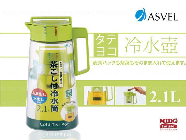 《Midohouse》ASVEL『多彩沖泡式冷水壺』2.1L (2色)