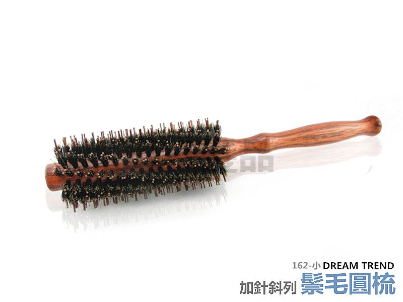 【DT髮品&彩妝】專業級 純鬃毛加針斜列圓梳 (小) 豬鬃毛 台灣製造