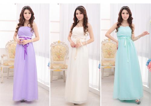 ✿ 3C膜露露 ✿ 新款韓版禮服長款伴娘禮服伴娘團禮服伴娘服裙