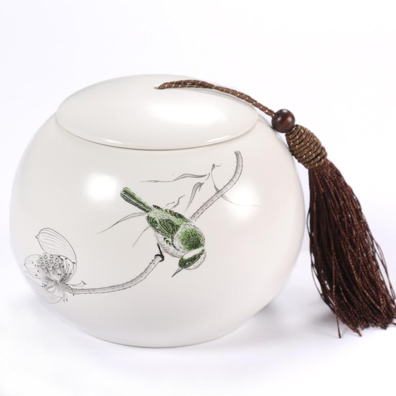 茶葉罐陶瓷大號半斤裝密封罐存儲罐