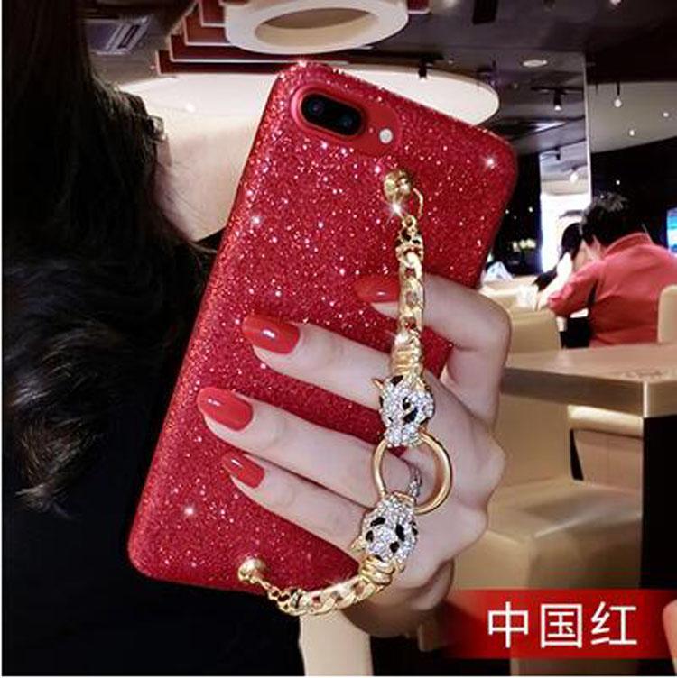 iphone 6 plus手機殼iphone 6s手機套iphone 6手機保護殼蘋果6S Plus閃粉全包個性軟殼水鉆防摔紅色