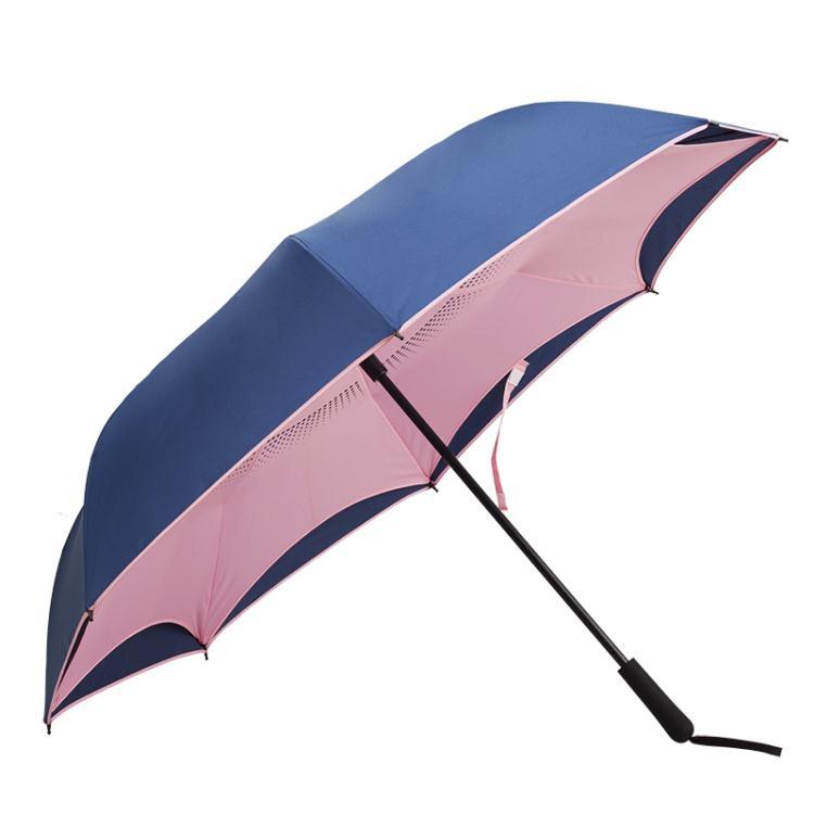 反向雨傘德國全自動雙層免持式男女車用定制雨傘汽車折疊長柄傘