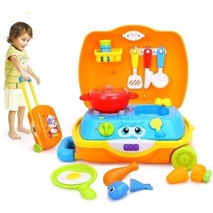 幼之圓*最新款~匯樂HuiLe小廚師旅行箱~兒童拉桿式行李箱廚房玩具~超實用的家家酒玩具