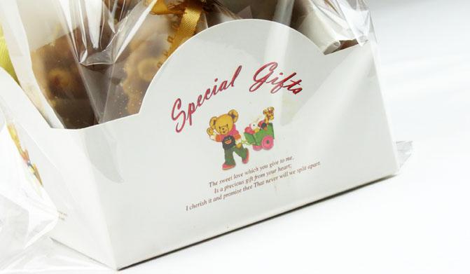 10入手推車小熊 烘焙包裝袋 西點袋 包裝袋 糖果袋 餅乾袋 紙盒
