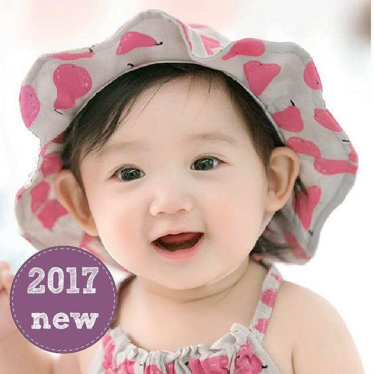 夏童帽寶寶遮陽帽JD0048 DL韓版嬰兒漁夫帽寶寶防曬帽太陽帽公主草帽花邊帽帽圍48-50cm