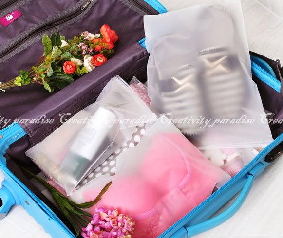 夾鏈防水袋大號28x40 cm旅行袋衣物拉鍊封口式整理袋密封收納袋夾鏈袋