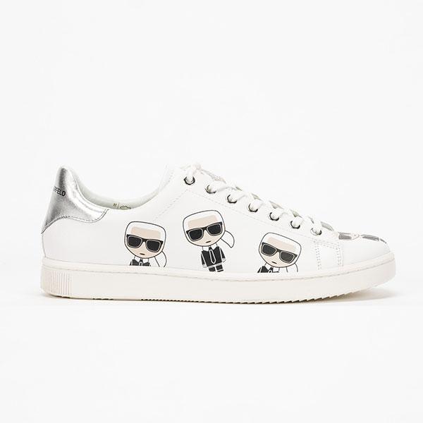 Karl Lagerfeld 鞋 KUPSOLE MULTI-Q版綁帶休閒男鞋-白