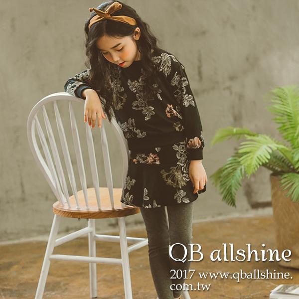 女童套裝甜美印花衛衣印花褲裙兩件式韓國外貿中大童QB allshine