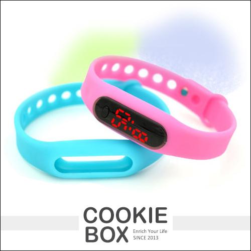大米LED手環手錶果凍錶運動觸控韓版類小米扣環對錶男女錶時尚流行情侶*餅乾盒子
