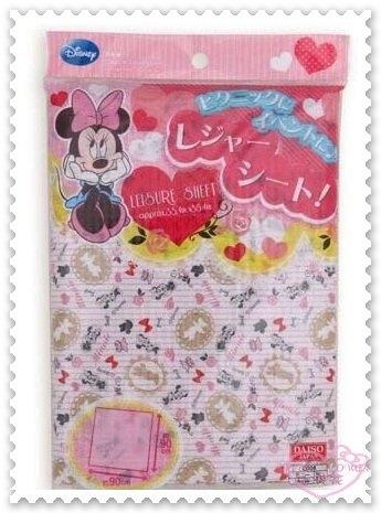 小花花日本精品Disney迪士尼米妮粉紅野餐墊餐墊印花野餐專用56974706