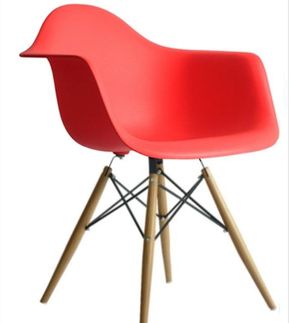 南洋風休閒傢俱設計單椅系列-扶手伊姆斯餐椅扶手筷子腳椅簡約現代咖啡設計師椅子