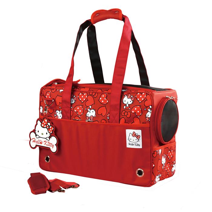Hello Kitty凱蒂貓正版授權雷樂士寵物包外出籠熱情紅Life Beauty