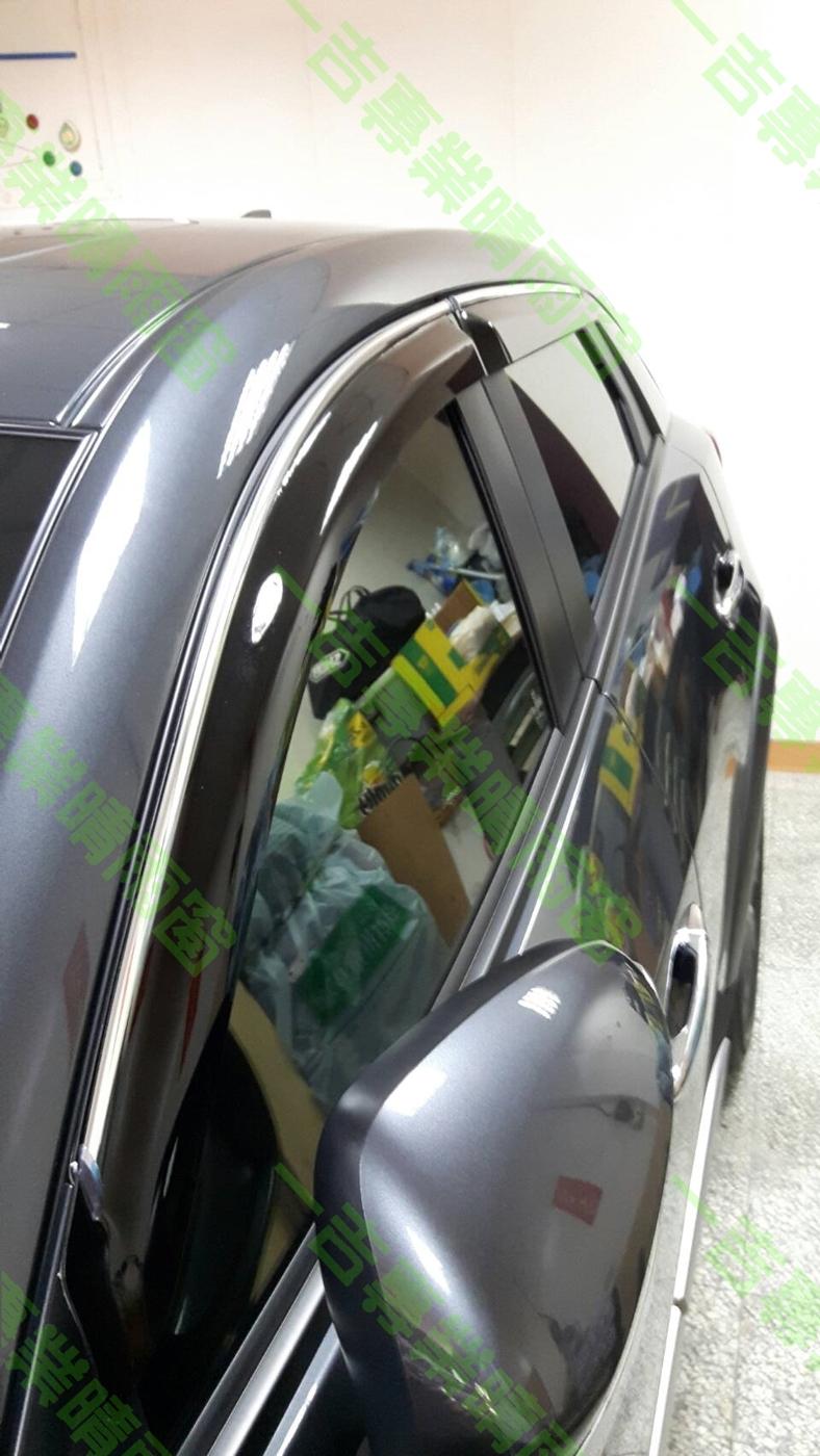 【一吉】CRV 二代 鍍鉻飾條款 (加寬13CM、加厚)   晴雨窗 台灣製造(crv2晴雨窗 crv2代晴雨窗 crv晴雨窗