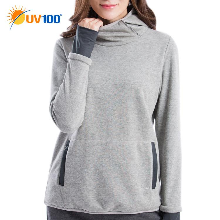 UV100 防曬 保暖防護口罩連帽上衣-女