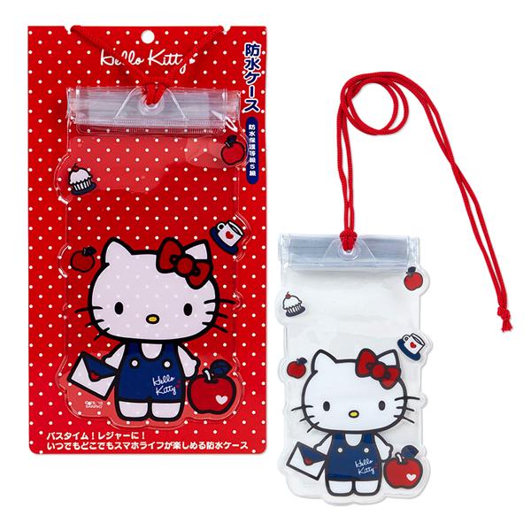 Hello Kitty手機袋蘋果愛心信封造型透明防水手機袋附繩防水袋玩水戲水消暑出遊喜愛屋