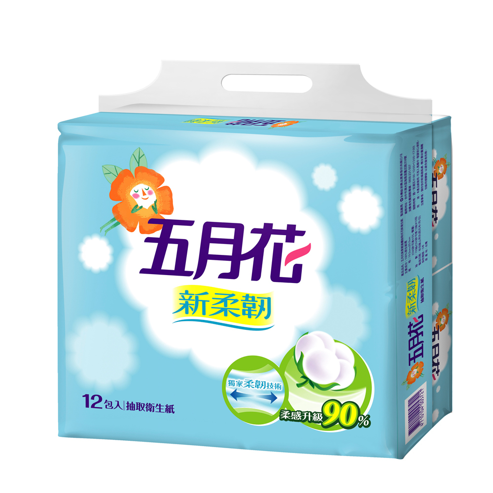 五月花新柔韌抽取式衛生紙110抽*12包*6袋  - 永豐商店