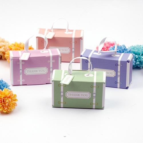 幸福婚禮小物馬卡龍行李箱喜糖盒喜糖盒送客禮桌上禮迎賓禮