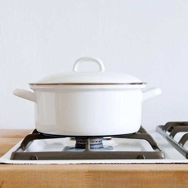 奧地利RIESS純白系列琺瑯燉鍋湯鍋20cm 2L