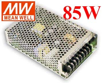 明緯MW 5V/8A 12V/3.5A -5V/0.5A 85W RT-85A 機殼型(Enclosed Type)交換式電源供應器