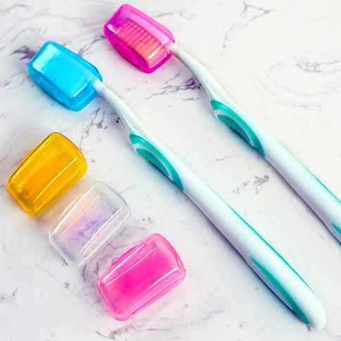 旅行便攜式牙刷頭套(5入) / 牙刷盒 / 牙刷衛生頭套 / 保護套 / 牙刷便攜盒