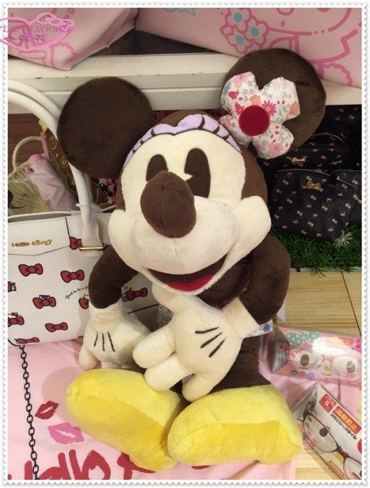 小花花日本精品Hello Kitty米妮娃娃玩偶抱枕花洋裝沃爾特12322305
