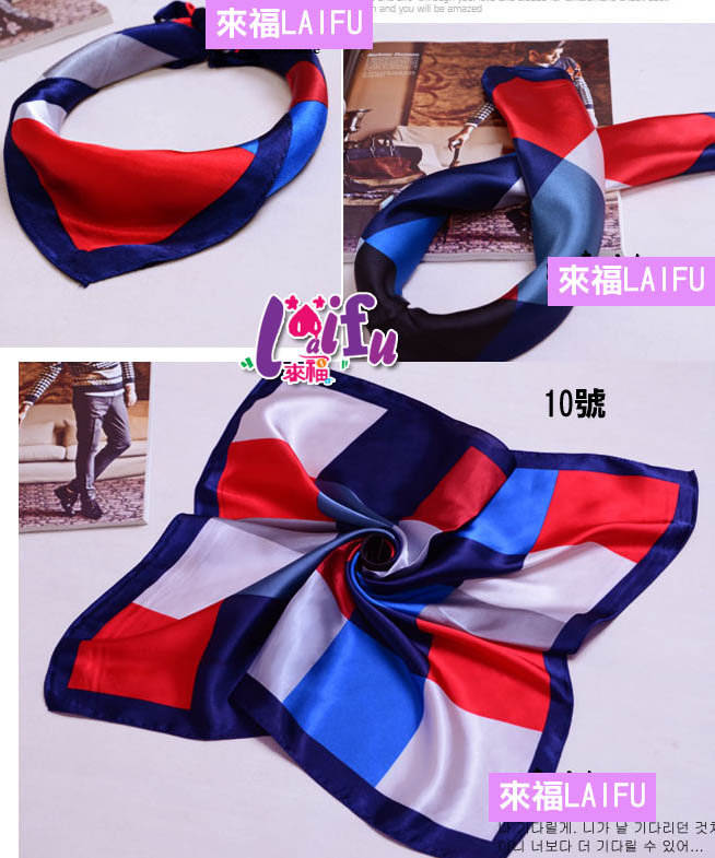 來福k322法國色絲巾餐飲銀行空姐圍巾絲巾領巾售價150元