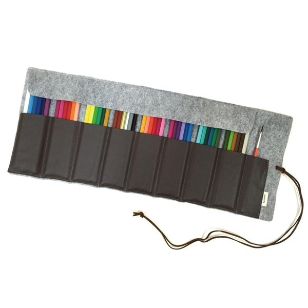 多用途灰48色彩色鉛筆卷筆袋韓國byranon