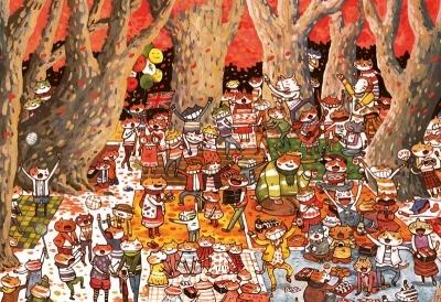 拼圖總動員PUZZLE STORY森林狂歡派對日本進口拼圖Apple One afu繪畫300P