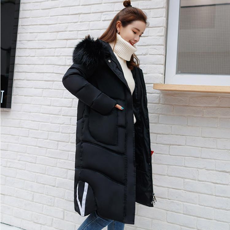 長板外套韓風高品質加厚保暖夾克大毛領連帽保暖風衣外套大衣L176
