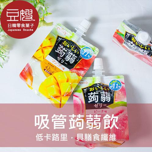 豆嫂日本零食Tarami蒟蒻果凍飲芒果蘋果白桃紫葡萄青葡萄