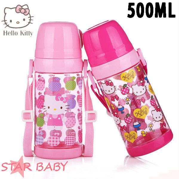 STAR BABY-正牌凱蒂貓HELLO KITTY兒童水壺水瓶水杯學習水壺學習杯500ML