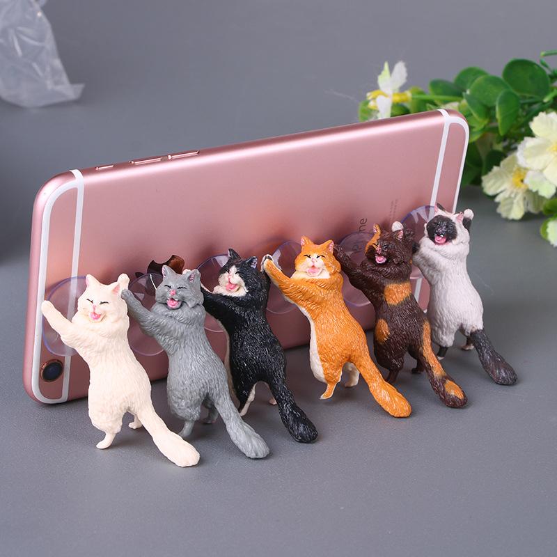 【預購】貓奴必備 貓咪手機支架 IPHONE 蘋果 安卓 手機支架 追劇神器 貓咪公仔 貓咪扭蛋